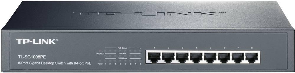 8 vrat RJ45 mrežno stikalo 1000 Mbit / s TP-LINK TL-SG1008PE