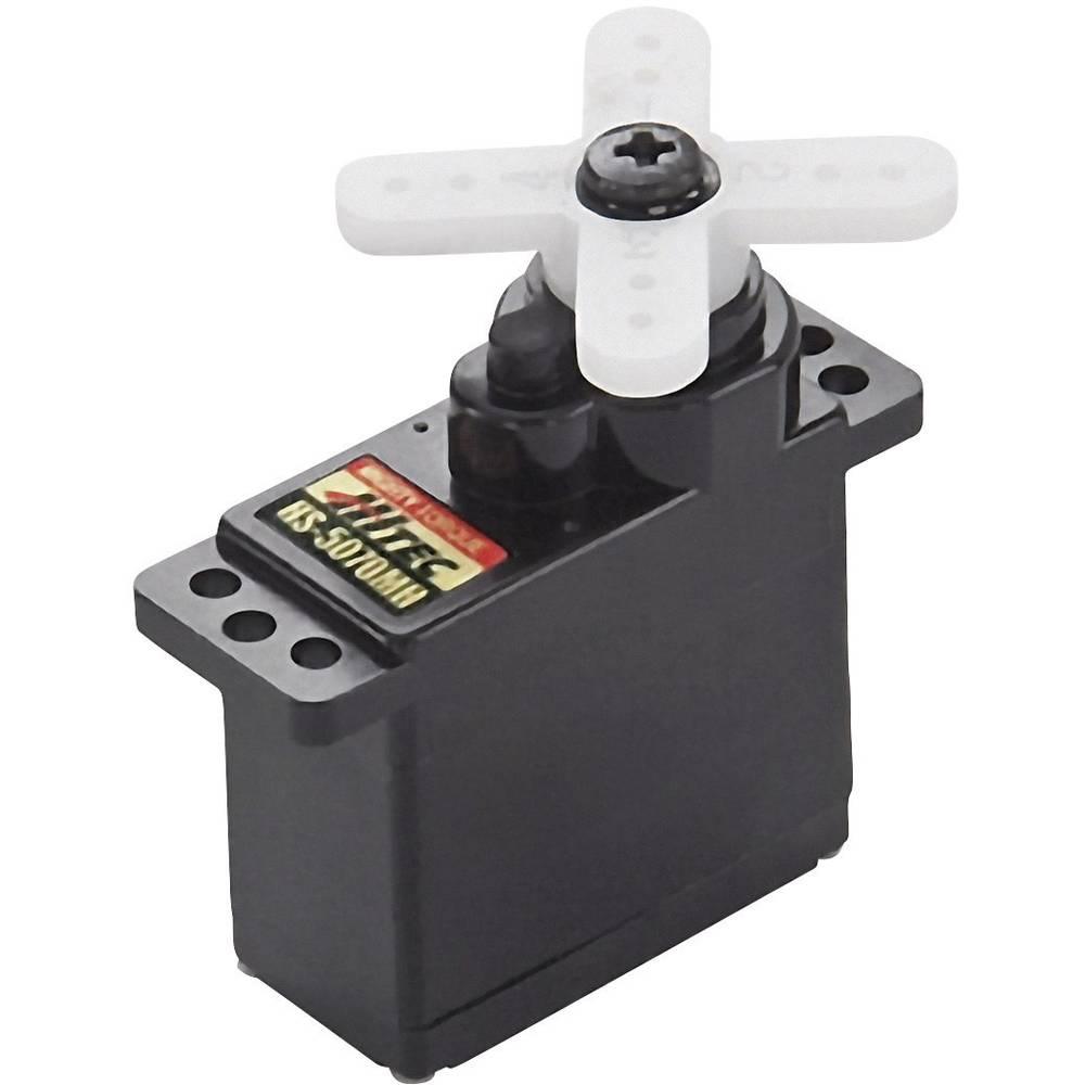 Hitec Mini servo HS-5070MH Gear box material: Metal