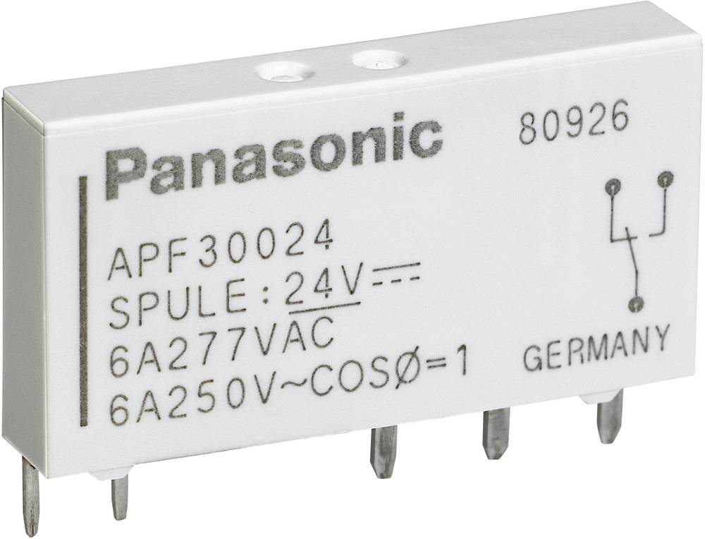 Rele za tiskano vezje 24 V/DC 6 A 1 x preklopni Panasonic APF30324 1 kos