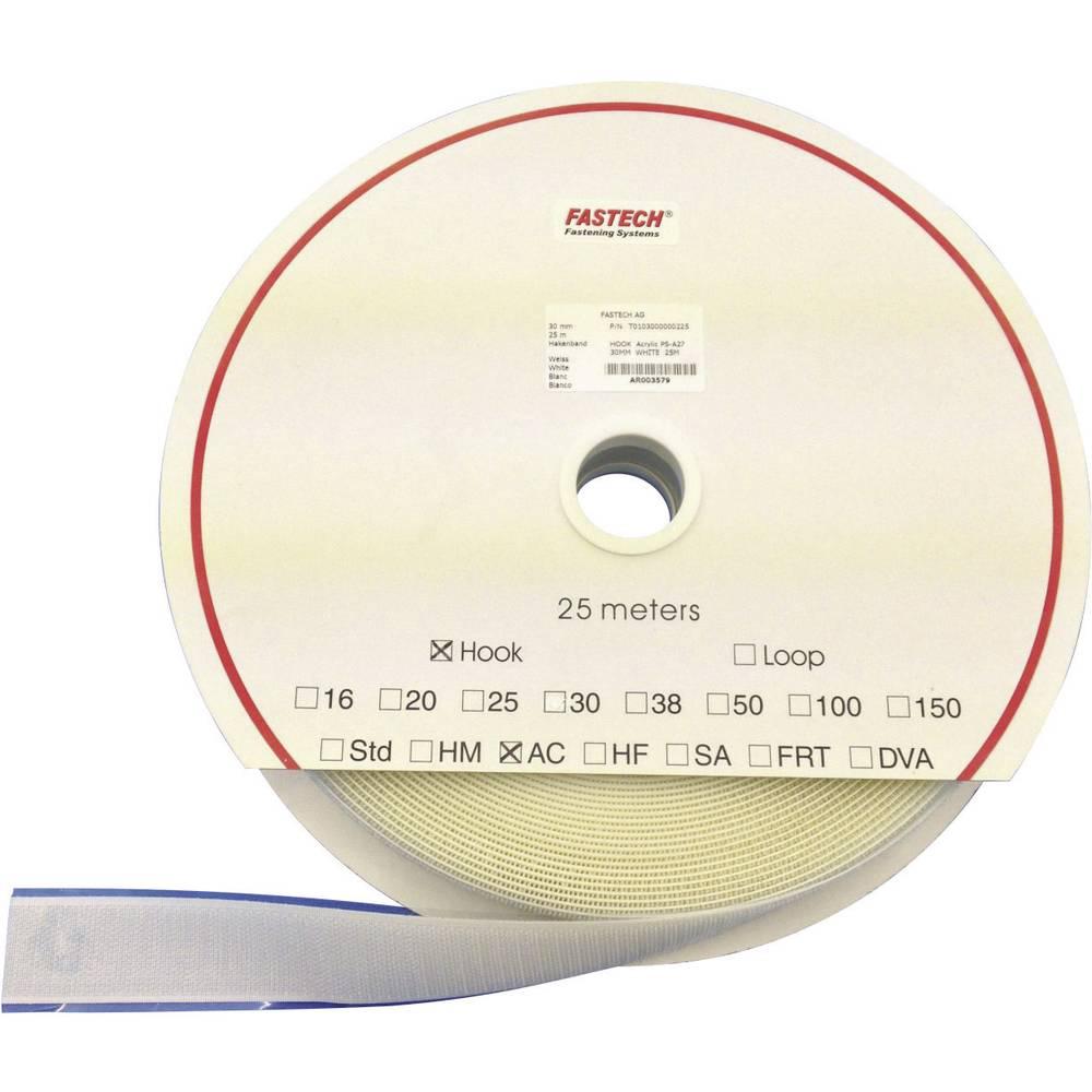 Ježek trak za lepljenje pritrdilni del (DxŠ) 25 m x 30 mm bela Fastech T0103000000225 25 m