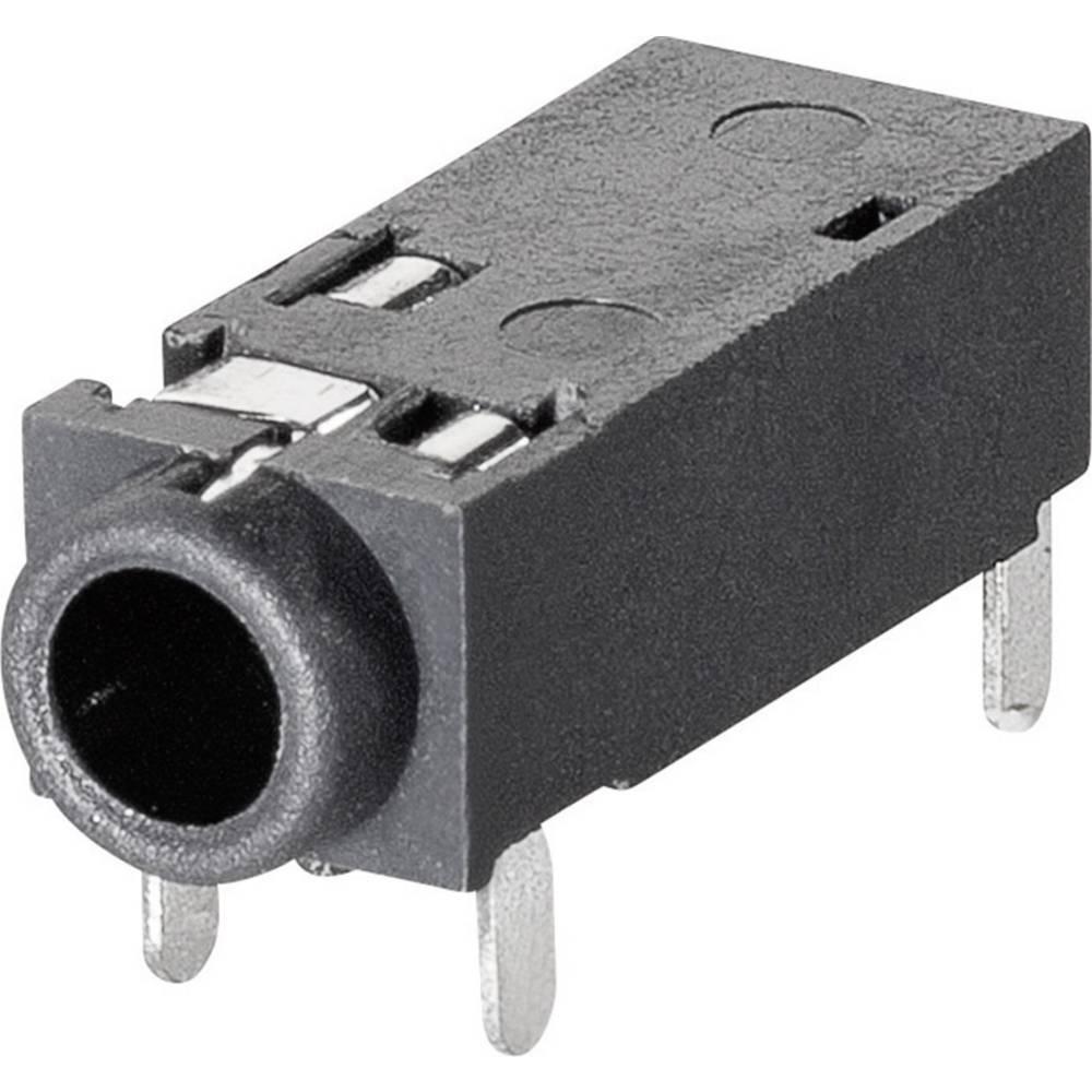 Klinken-vtični konektor, 2.5 mm vtičnica, vgraden horizontalen število polov: 4 Stereo BKL Electronic 1109202 1 kos