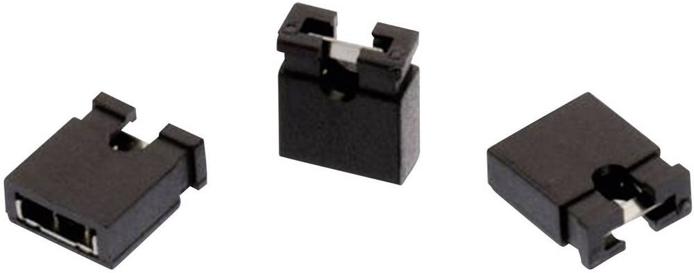 Kortslutningsbro Rastermål: 2.54 mm Poltal hver række:2 Würth Elektronik WR-PHD Indhold: 1 stk