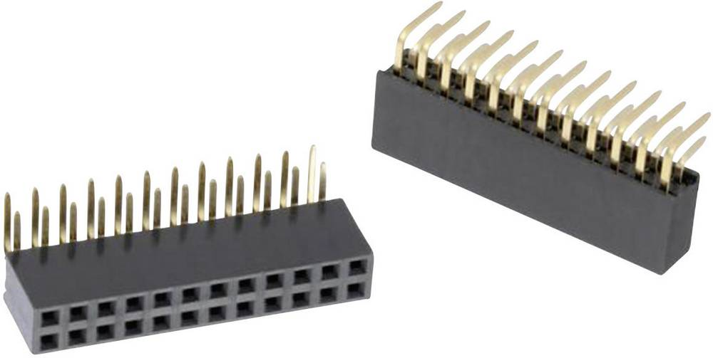 Bøsningsliste (standard) WR-PHD Samlet antal poler 64 Würth Elektronik 613064243121 Rastermål: 2.54 mm 1 stk