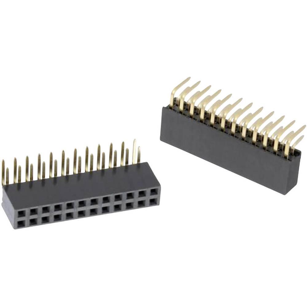Bøsningsliste (standard) WR-PHD Samlet antal poler 10 Würth Elektronik 613010243121 Rastermål: 2.54 mm 1 stk