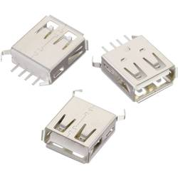 USB , tipa A, pokončen, WR-COM vtičnica, vgraden, vertikalen Würth Elektronik vsebuje: 1 kos