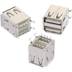 USB , tipa A stojalni, 2-smerni WR-COM vtičnica, vgraden, vertikalen Würth Elektronik vsebuje: 1 kos