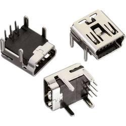 Mini USB , tipa B pokončen 5-polig WR-COM vtičnica, vgraden, horizontalen Würth Elektronik vsebuje: 1 kos