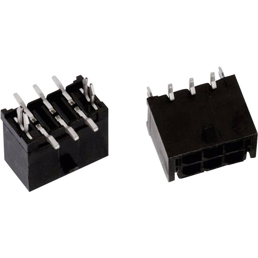 Indbygningsbøsningsliste (standard) WR-MPC3 Samlet antal poler 8 Würth Elektronik 662008235922 Rastermål: 3 mm 1 stk