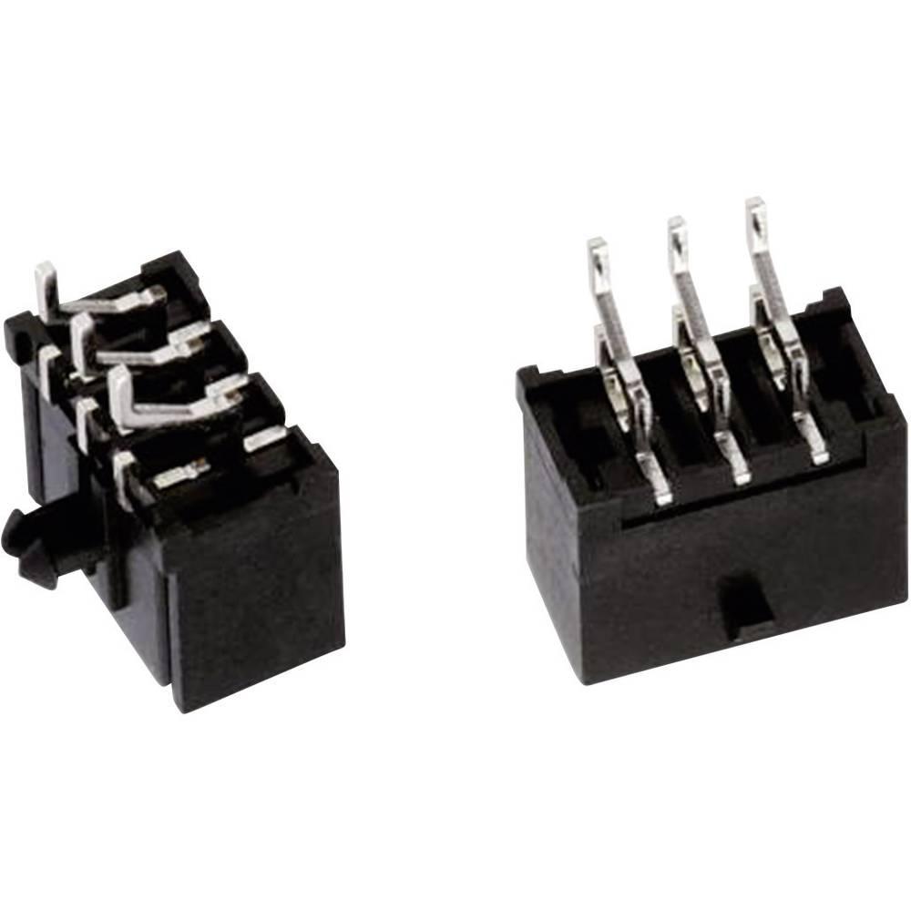 Indbygningsbøsningsliste (standard) WR-MPC3 Samlet antal poler 6 Würth Elektronik 662006236022 Rastermål: 3 mm 1 stk