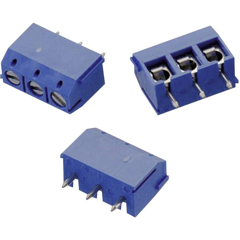 Skrueklemmeblok Würth Elektronik WR-TBL 102 0.33 mm² Poltal 3 Blå 1 stk