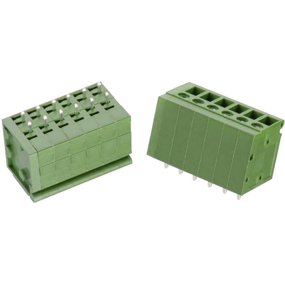 Skrueklemmeblok Würth Elektronik WR-TBL 127 B 3.30 mm² Poltal 6 Grøn 1 stk