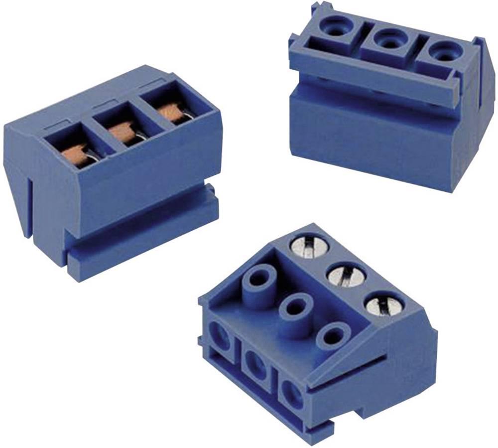 Skrueklemmeblok Würth Elektronik 3.50 mm² Poltal 3 Blå 1 stk