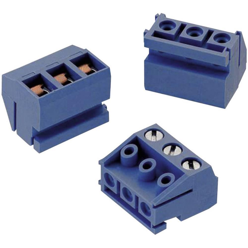 Skrueklemmeblok Würth Elektronik 3.50 mm² Poltal 2 Blå 1 stk