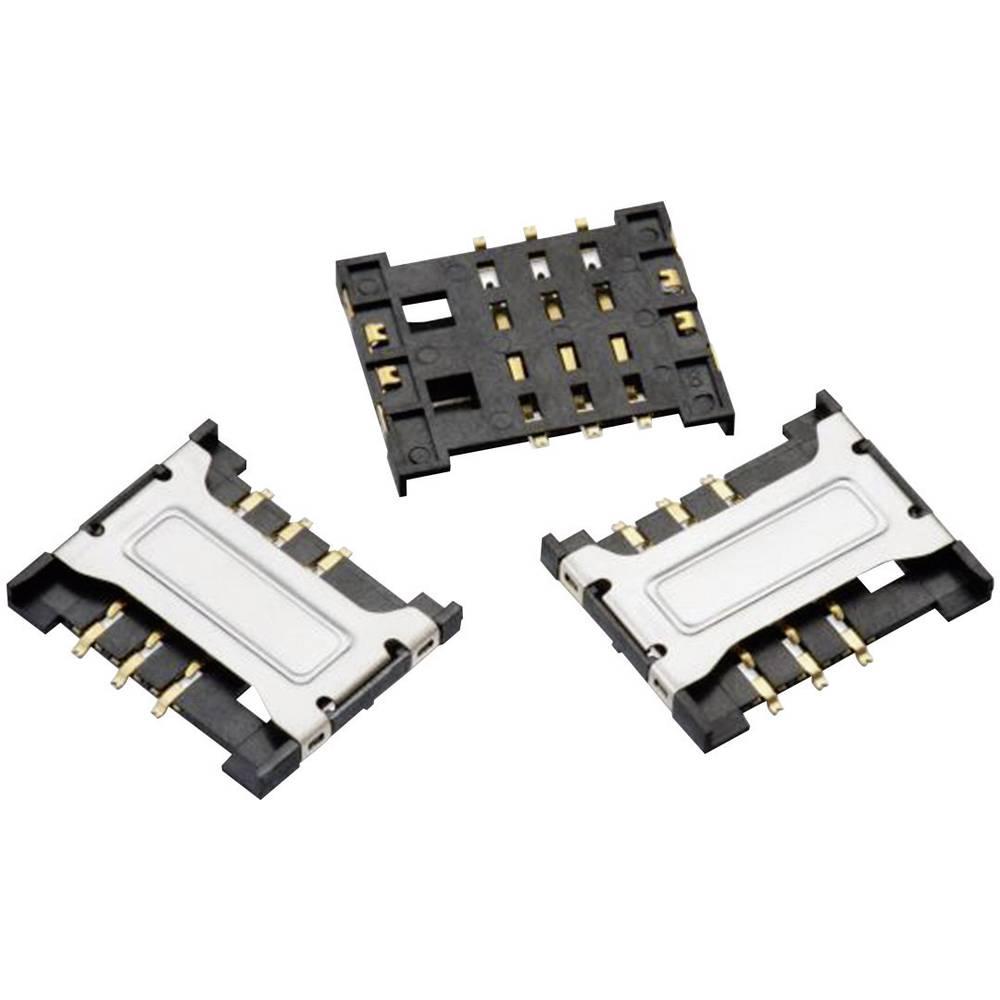 WR-CRD SIM-reža za kartico, polov: 6 Würth Elektronik vsebuje: 1 kos