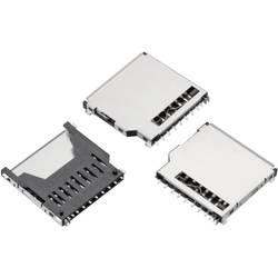 WR-CRD SD-kort socket, Push & Pull, kort anerkendelse, 9 pins Würth Elektronik WR-CRD 1 stk