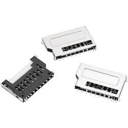 WR-CRD SD-kort socket, Push & Pull, kort udgave, kort anerkendelse, 9 pins Würth Elektronik WR-CRD 1 stk