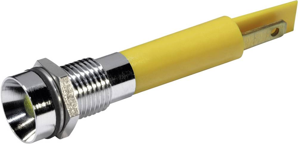 LED-signallampe CML 19500432 230 V/AC 3 mA Gul