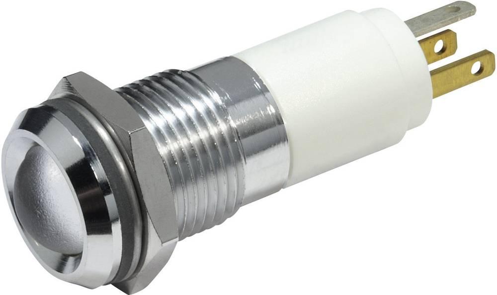 LED-flerfarvet signallampe CML 19240254 12 V/DC 20 mA, 20 mA, 40 mA Rød, Grøn, Gul