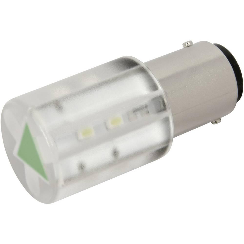 LED žarnica BA15d zelena 230 V/AC 280 mcd CML 18561231