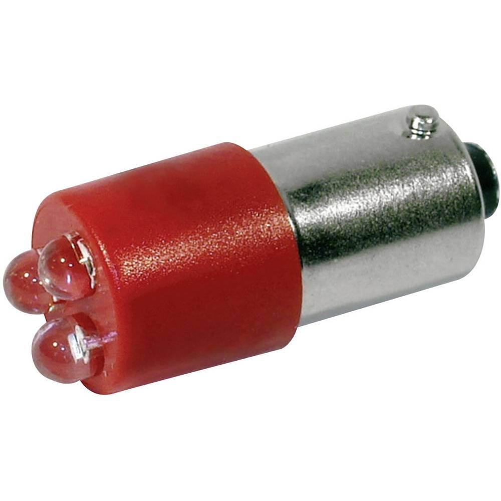 LED žarnica BA9s rdeča 24 V/DC, 24 V/AC 400 mcd CML 18620350