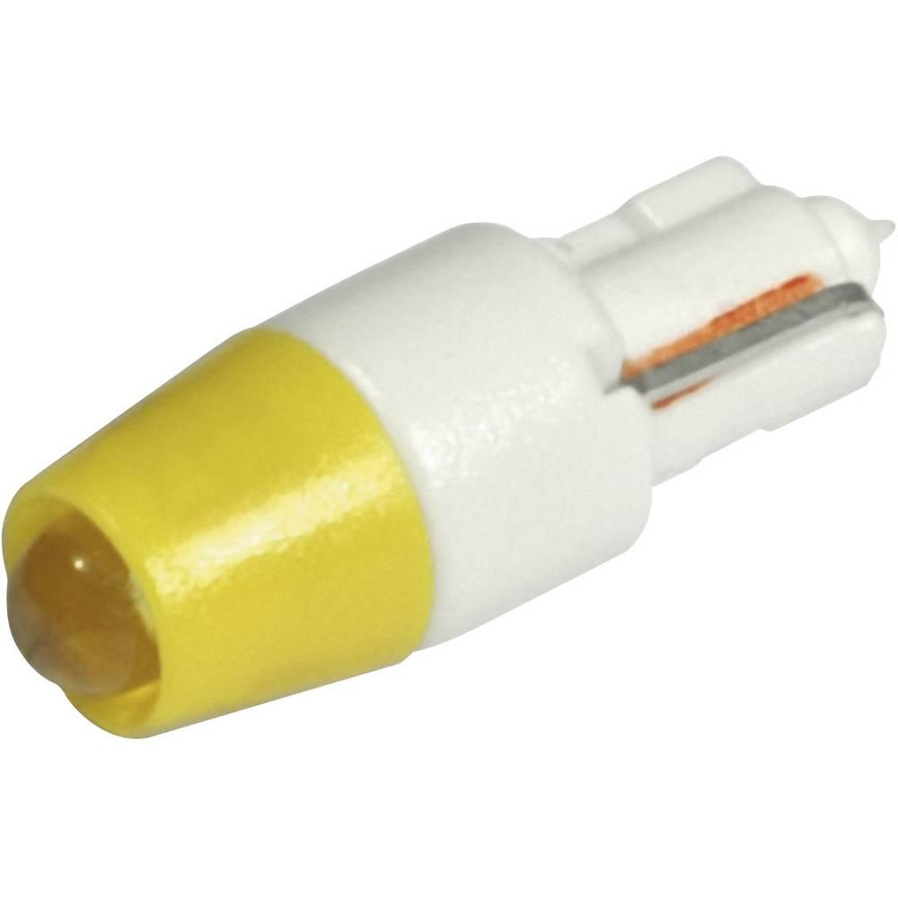 LED žarnica W2x4.6d rumena 12 V/DC, 12 V/AC 240 mcd CML 1511A25UY3