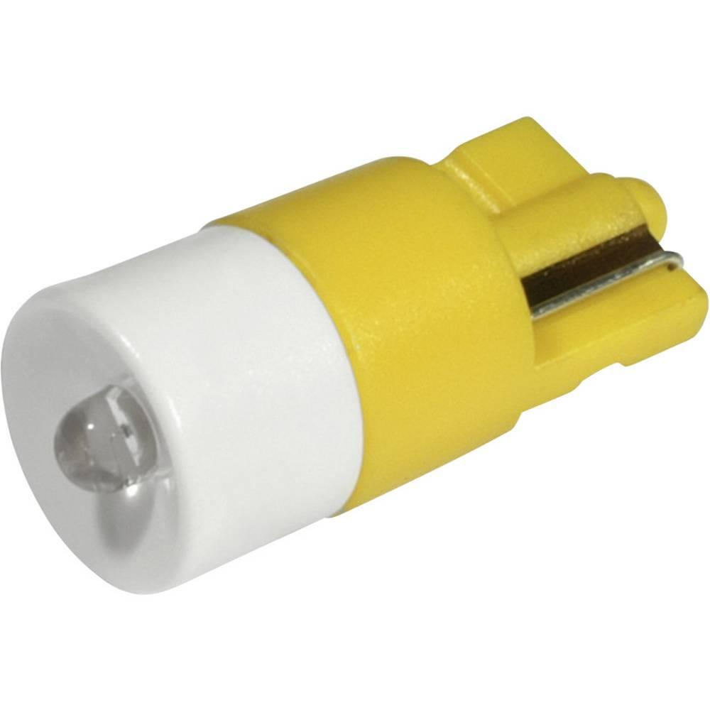 LED žarnica W2.1x9.5d rumena 24 V/DC, 24 V/AC 280 mcd CML 1511B35UY3
