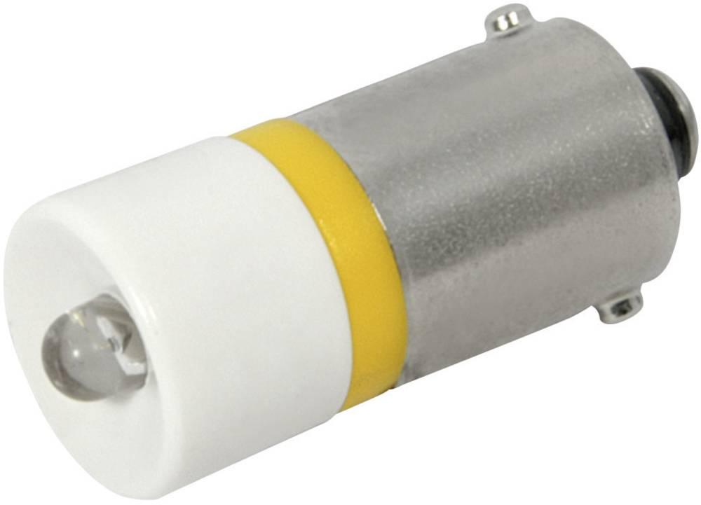 LED žarnica BA9s rumena 12 V/DC 700 mcd CML 186002B2C