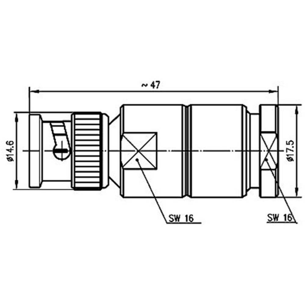 Bnc Connector Plug Straight 50 Telegrtner J01000a1940 1 Pcs Wiring Diagram