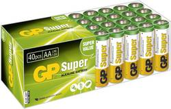Batteri R6 (AA) Alkaliskt GP Batteries Super Alkaline 1.5 V 40 st