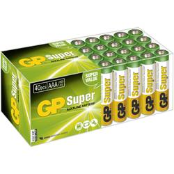 AAA-batteri Alkali-mangan GP Batteries Super Alkaline 1.5 V 40 stk