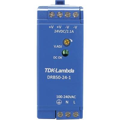 TDK-Lambda DRB-50-24-1 Rail mounted PSU (DIN) 24 V DC 2.1 A 50.4 W 1 x
