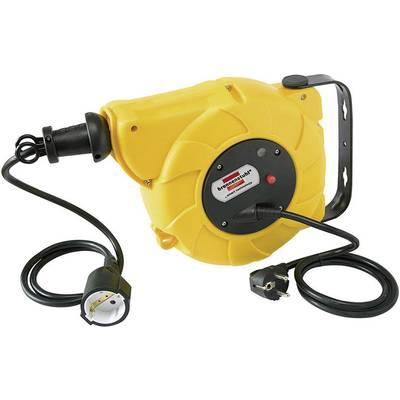 Image of Brennenstuhl 1241020300 Wall-mounted cable reel 9.00 m Black PG plug