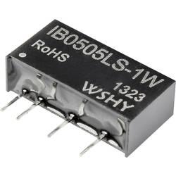 DC/DC-omformer, print IB1205LS-1W 12 V/DC 5 V/DC 200 mA 1 W
