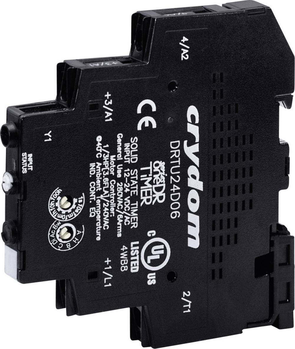 Časovni-pol-prevodni rele (Solid State Relay Timer) 1 kos Crydom DRTC24D06 preobremenitveni tok 6 A napetost 24 - 280 V/AC