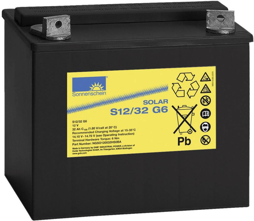 Solarni akumulator 12 V 32 Ah GNB Sonnenschein 081 9862500 svinčevo-gelni 197 x 184 x 132 mm M5-vijačni priklop