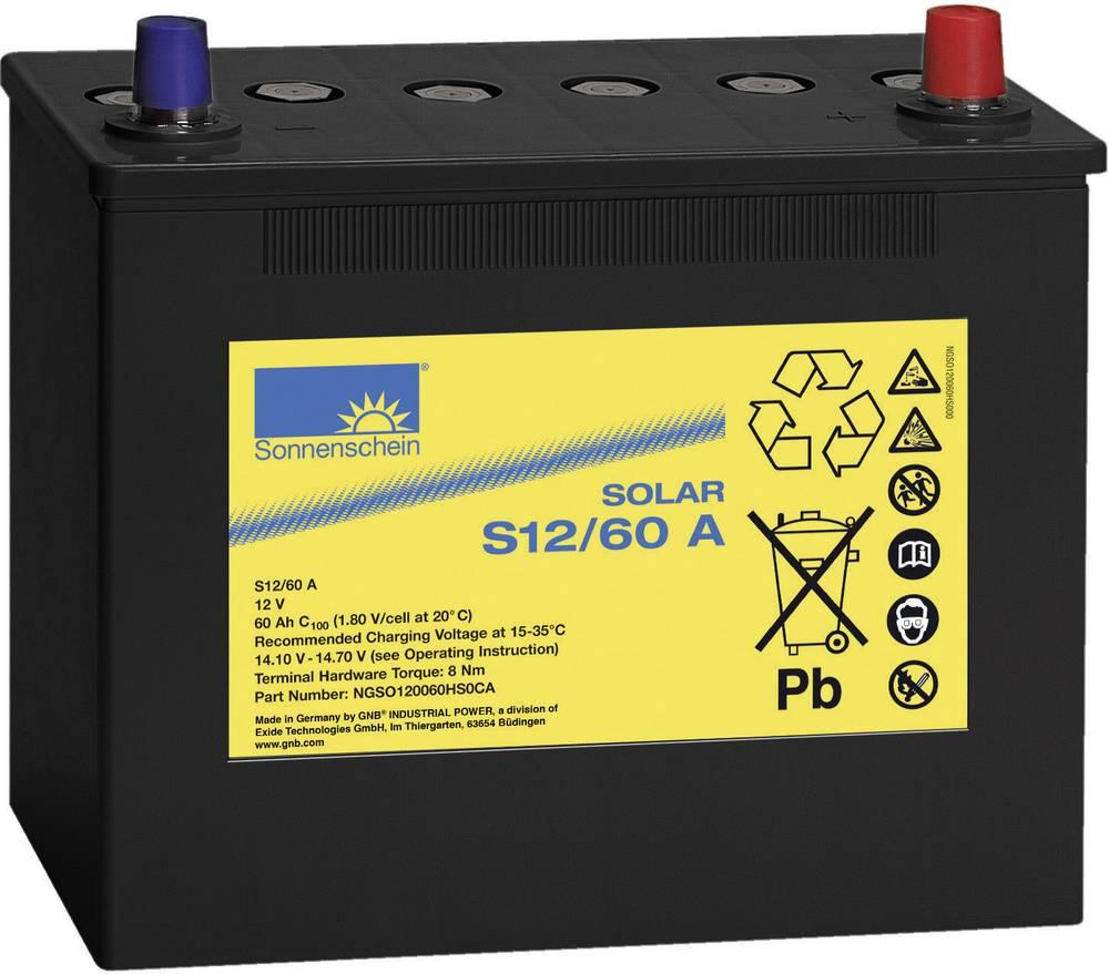 Solarni akumulator 12 V 60 Ah GNB Sonnenschein 081 9866000 svinčevo-gelni 261 x 230 x 136 mm konusni pol