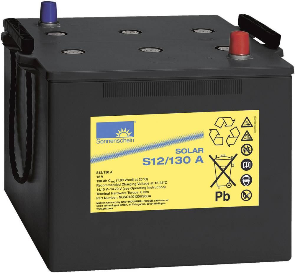 Solarni akumulator 12 V 130 Ah GNB Sonnenschein 081 9875000 svinčevo-gelni 286 x 230 x 269 mm konusni pol