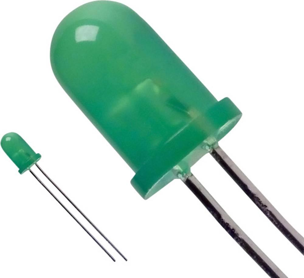 Ožičena LED dioda, zelena, okrogla 5 mm 20 mcd 60 ° 20 mA 3 V LUMEX SSL-LX5093BGD