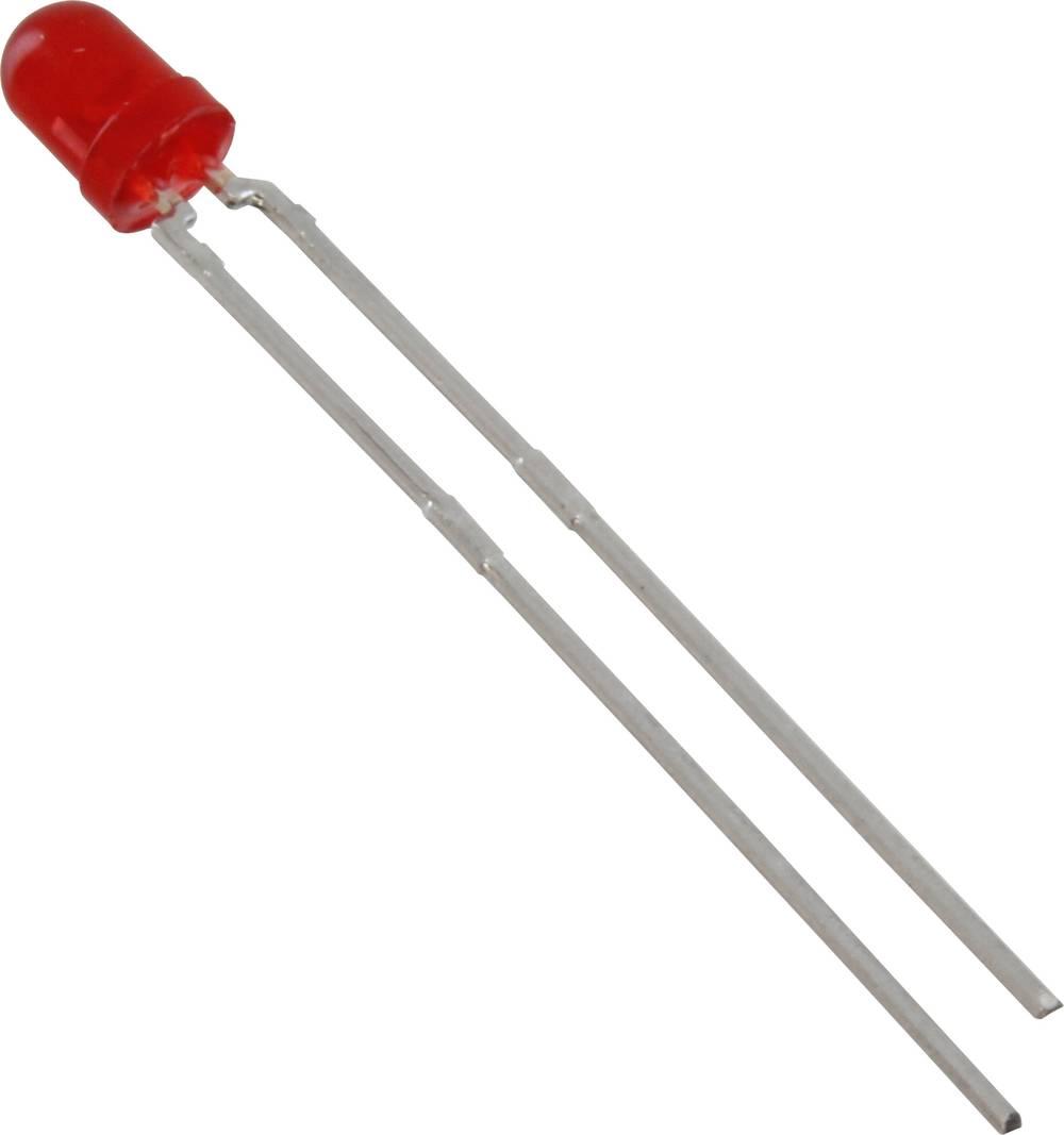 Ožičena LED dioda, rdeča, okrogla 3 mm 15 mcd 60 ° 20 mA 2 V Vishay TLUR4400