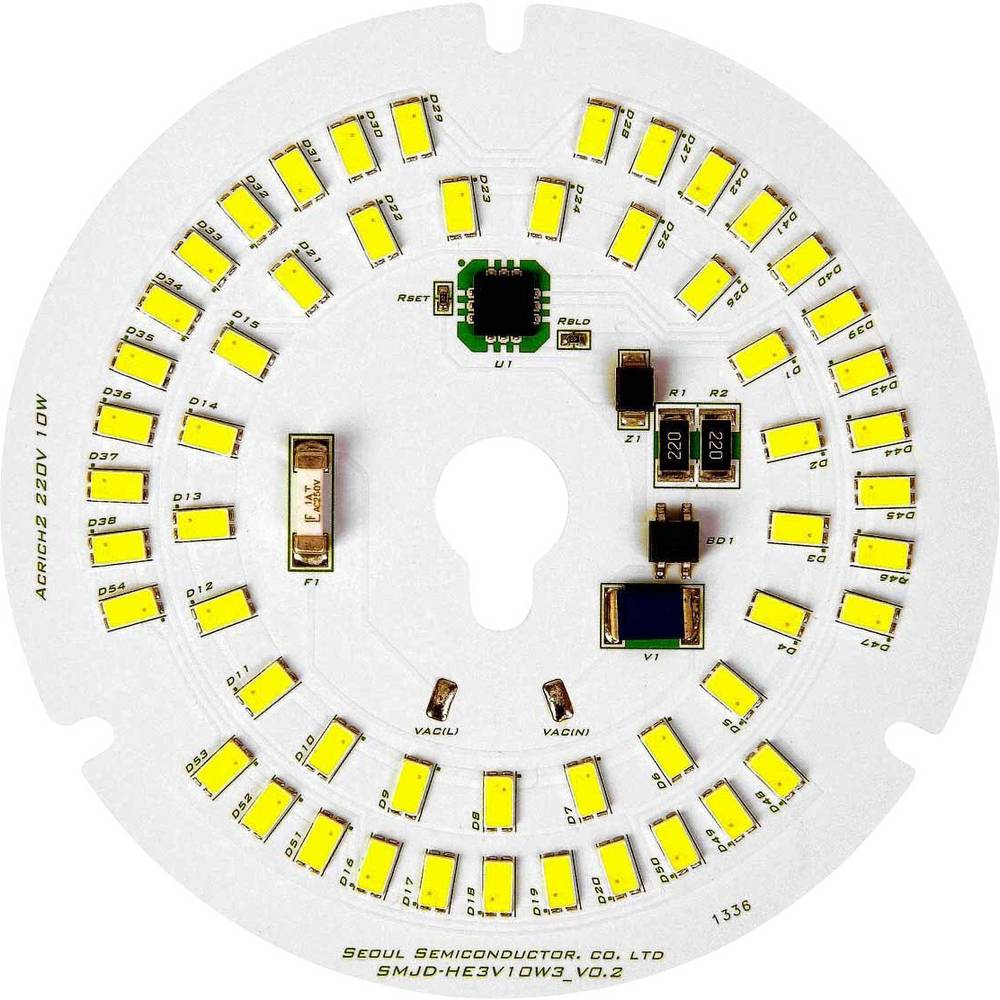 HighPower LED modul, nevtralno bela 10 W 1300 lm 120 ° 120 V/AC Seoul Semiconductor SMJD-HE2V10W3-EA