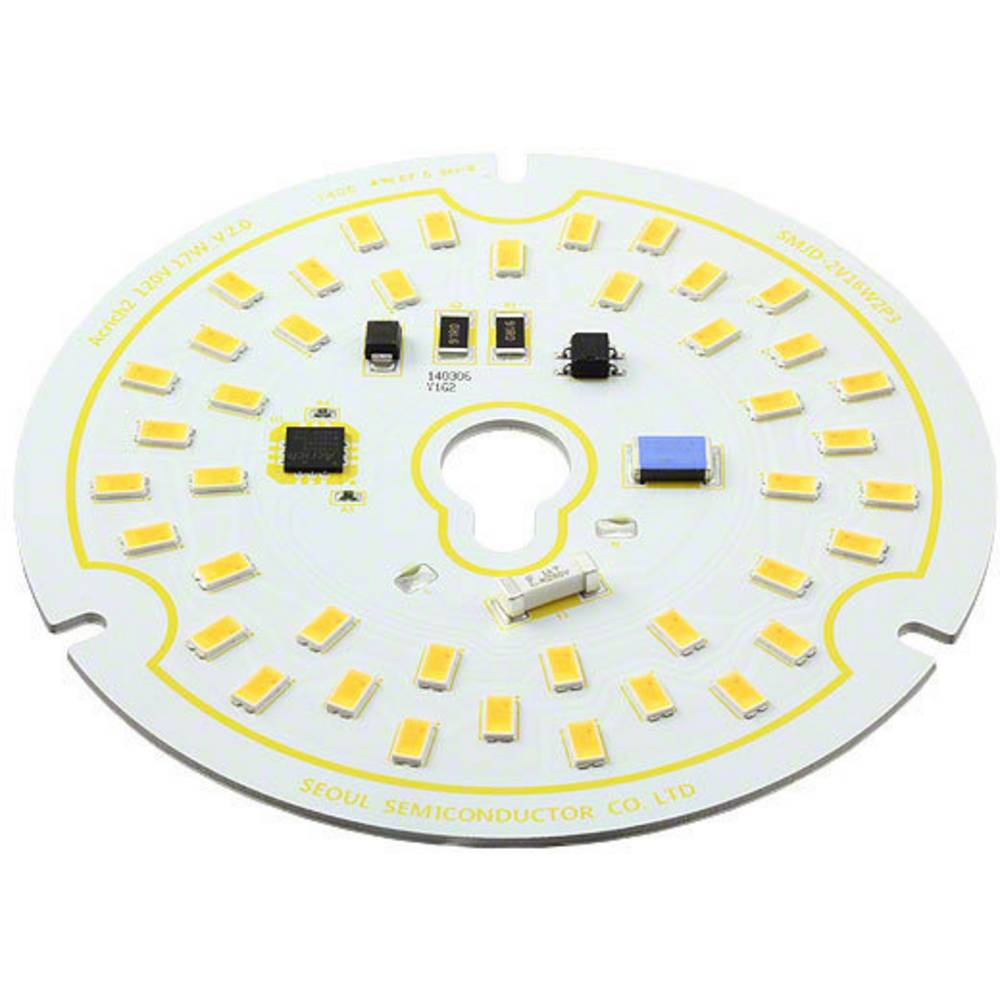 HighPower-LED-modul Seoul Semiconductor Varm hvid 17 W 1300 lm 120 ° 120 V/AC