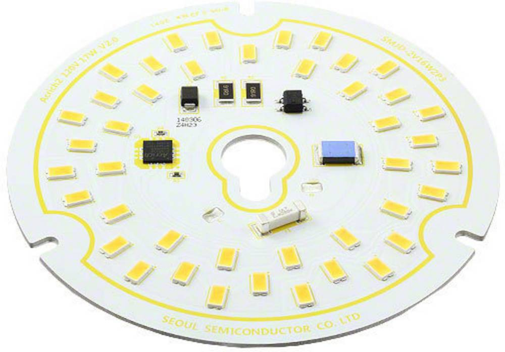 HighPower-LED-modul Seoul Semiconductor Varm hvid 17 W 1300 lm 120 ° 120 V/AC