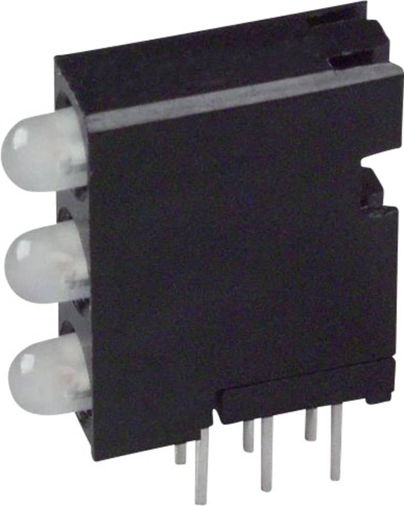 LED-komponent Dialight (L x B x H) 18.92 x 14.32 x 4.32 mm Grøn, Rød