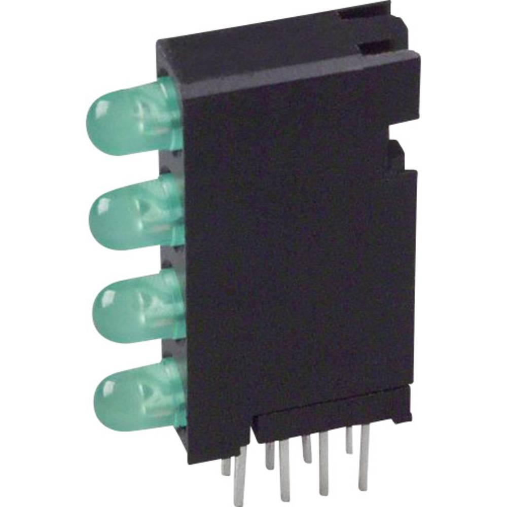 LED-komponent Dialight (L x B x H) 24 x 14.35 x 4.32 mm Grøn