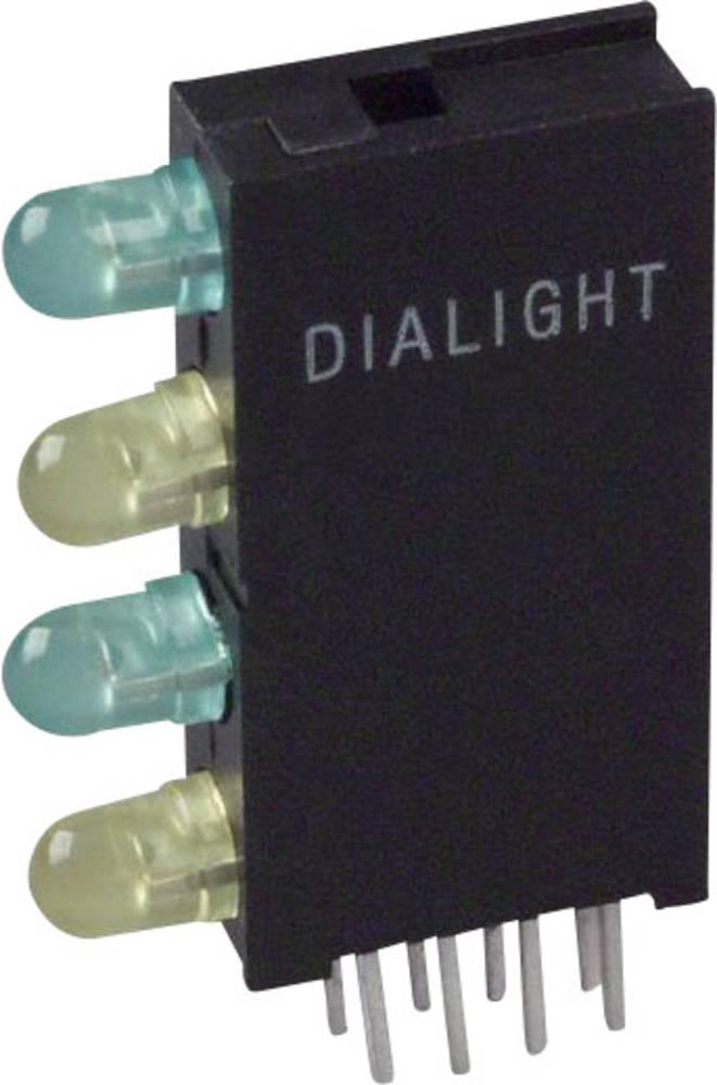 LED-komponent Dialight (L x B x H) 24 x 14.35 x 4.32 mm Grøn, Gul