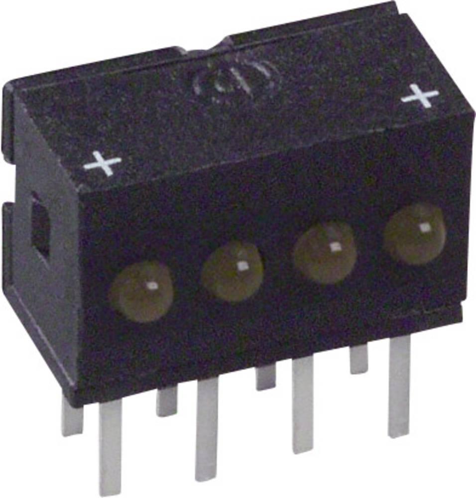 LED bånd Dialight 555-4403F (L x B x H) 10.29 x 10.03 x 6.22 mm Gul