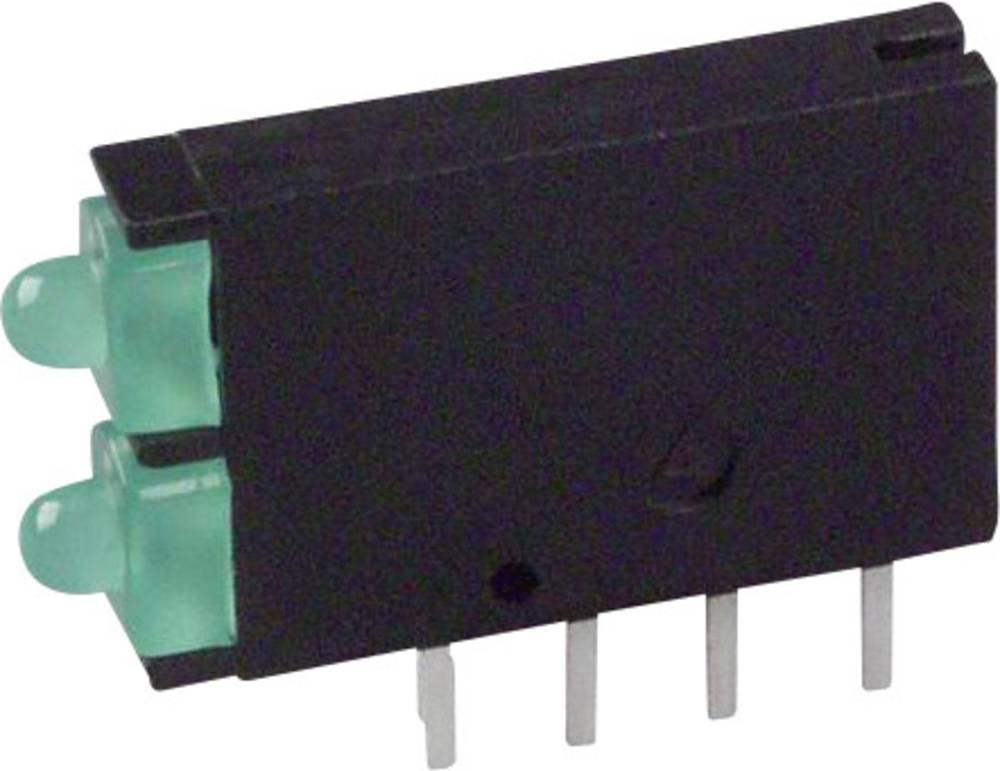 LED-komponent Dialight (L x B x H) 15.24 x 11.6 x 2.5 mm Grøn