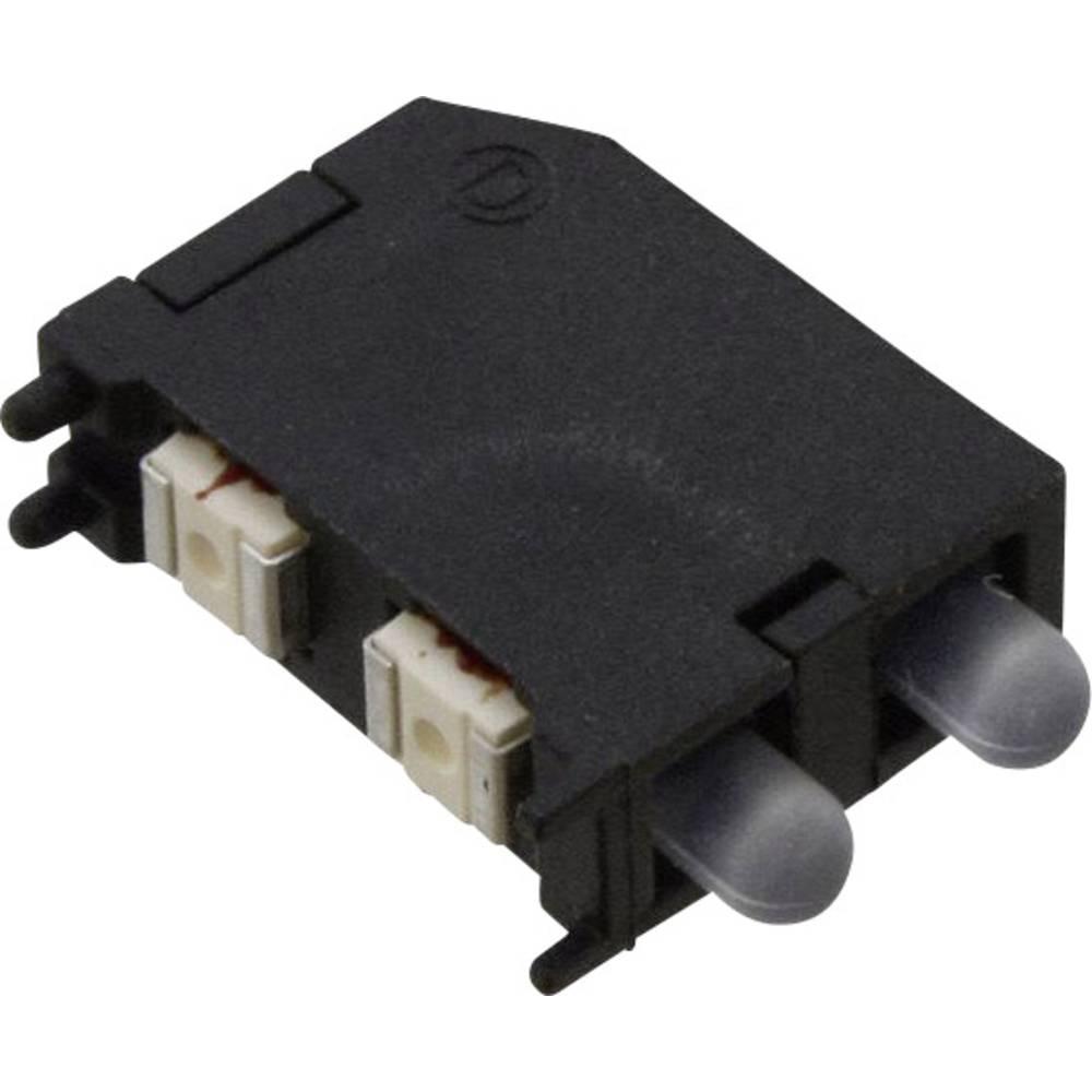 LED-komponent Dialight (L x B x H) 16.89 x 11.56 x 4.57 mm Grøn, Rød