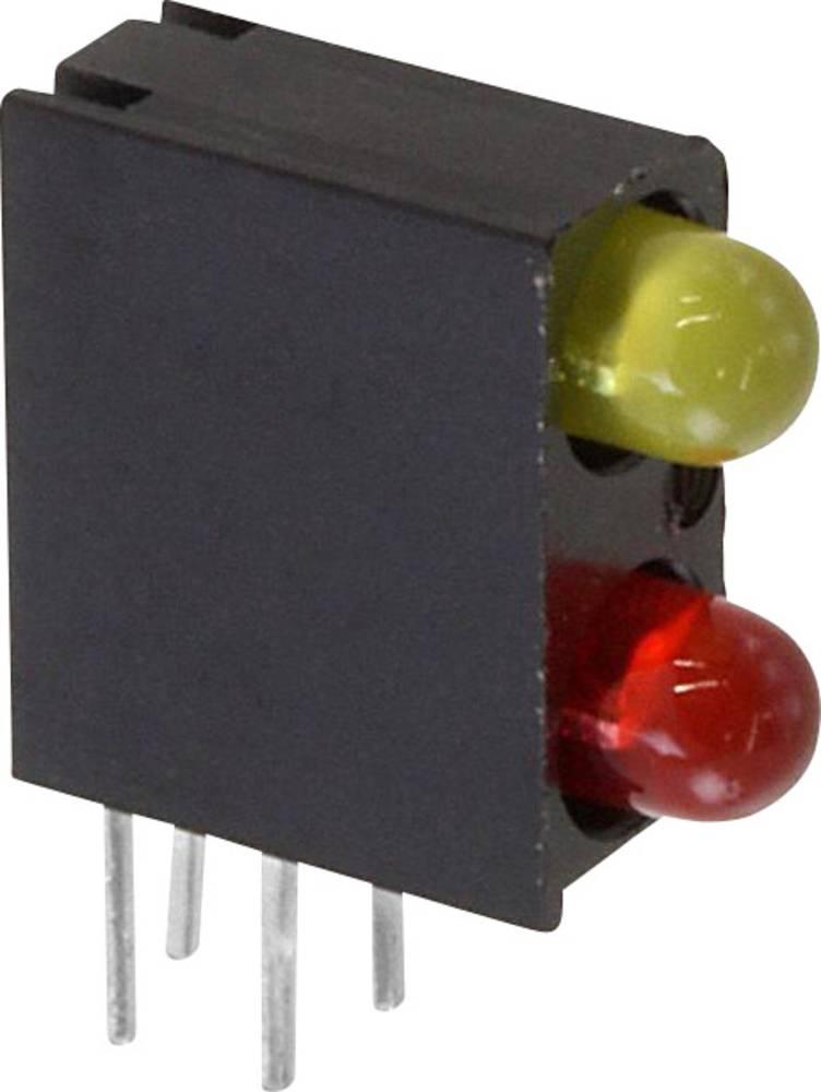 LED-komponent Dialight 553-0231F (L x B x H) 13.33 x 11 x 4.32 mm Rød, Gul