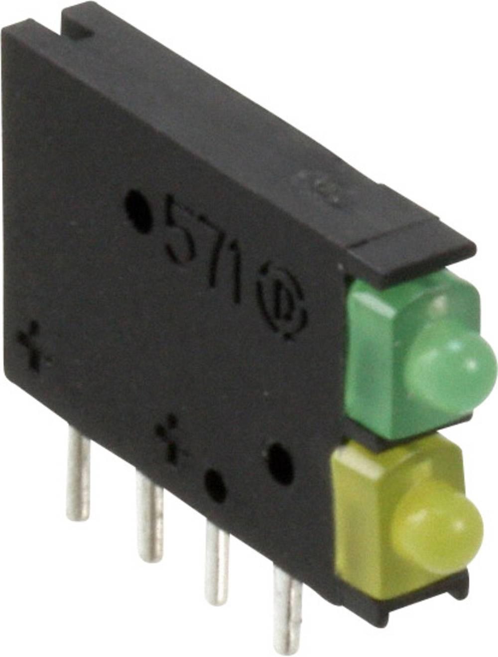 LED-komponent Dialight (L x B x H) 15.42 x 11.6 x 2.48 mm Grøn, Gul